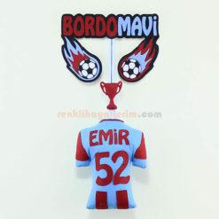 Emir isimli Trabzonspor Bordo Mavi Kapı Süsü