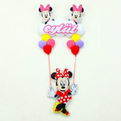 Süslü Kız Minnie Mouse Kapı Süsü