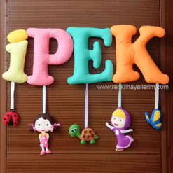 ipek isimli bebek kapı süsü modeli