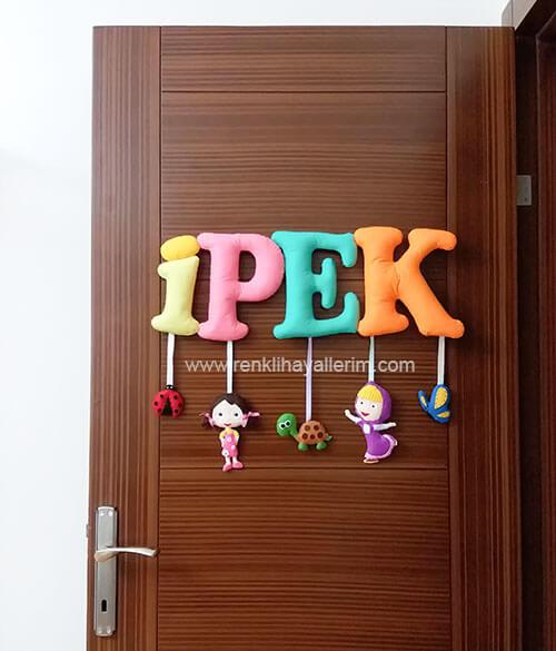 ipek isimli bebek kapı süsü modelleri - isme özel