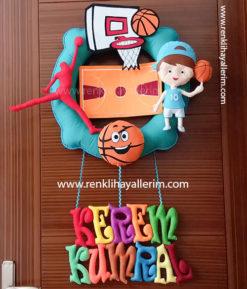 Kerem basketbol erkek bebek kapı süsü