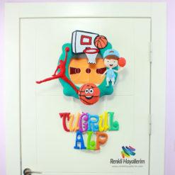 Tuğrul Alp Basketbolcu Bebek Odası Kapı Süsü