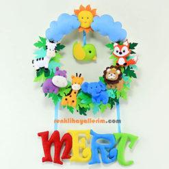 Mert isimli safari bebek odası süsü