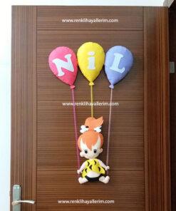 Nil bebek çakıl kız kapı süsü