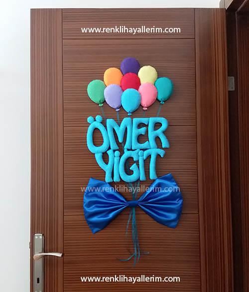Balonlu Papyon Kapı Süsü Ömer Yiğit