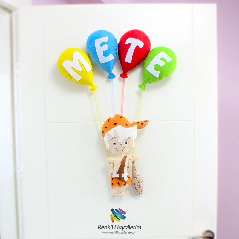 BamBam Erkek Bebek Odası Kapı Süsü