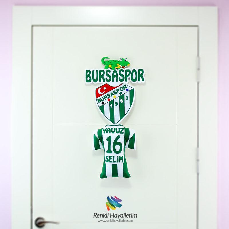 Bursaspor Bebek Odası Kapı Süsü