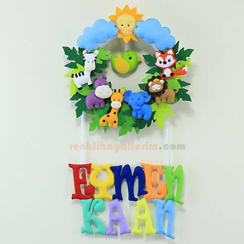 Eymen Kaan isimli safari bebek kapı süsü