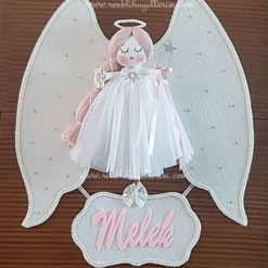 Mimoza melek kız bebek kapı süsü