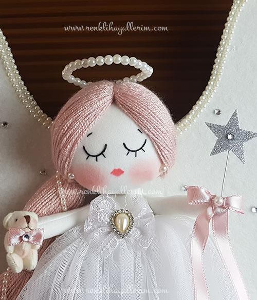 Mimoza melek kız bebek kapı süsü 4