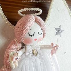 Mimoza melek kız bebek kapı süsü 5