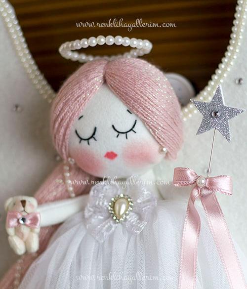 Mimoza melek kız bebek kapı süsü 6