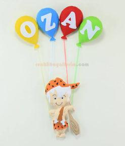 Ozan isimli bambam erkek bebek kapı süsü