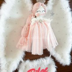 Akasya melek kız bebek kapı süsü 2