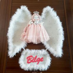 Akasya melek kız bebek kapı süsü 3