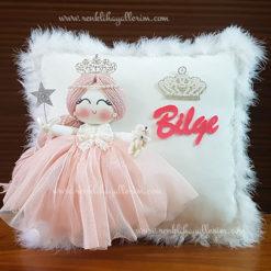 Akasya melek kız bebek takı ve süs yastığı 1