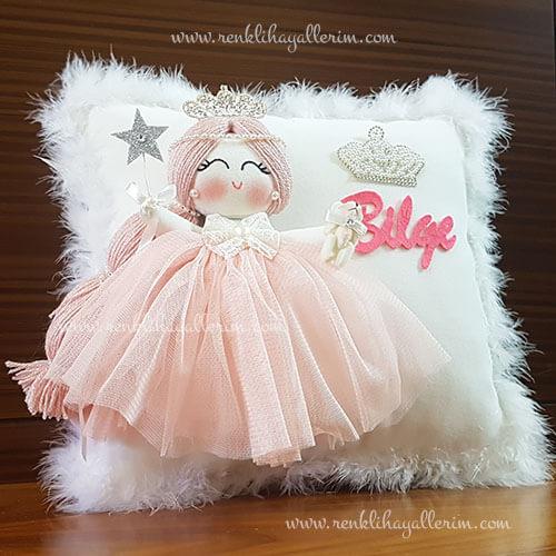 Akasya melek kız bebek takı ve süs yastığı 2
