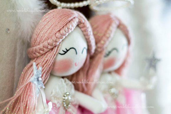 Begonya ikili melek bebek kapı süsü 6