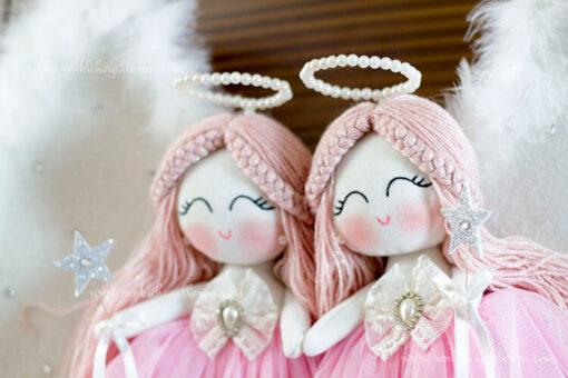 Begonya ikili melek bebek kapı süsü 7