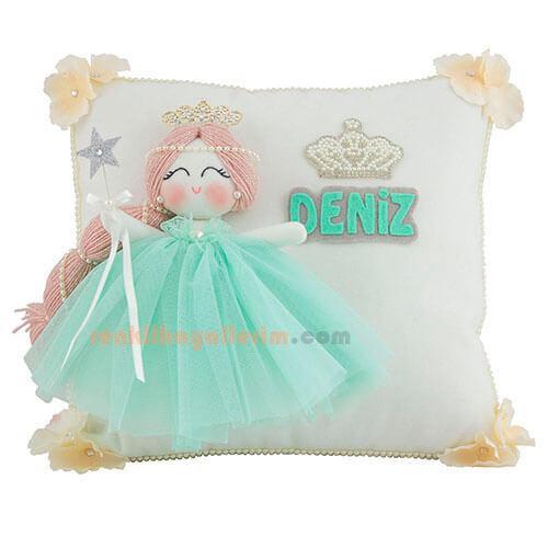 Papatya melek kız bebek takı ve süs yastığı