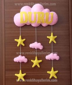Duru isimli bulutlu bebek kapı süsü