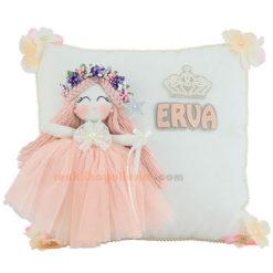 Erva isimli bebek gardenya melek kız takı ve süs yastığı