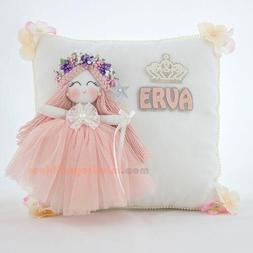 Erva bebek gardenya melek kız takı ve süs yastığı
