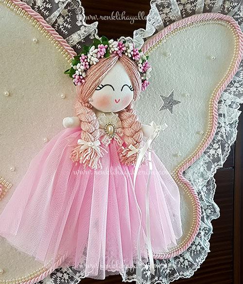 Frezya melek kız bebek kapı süsü 3