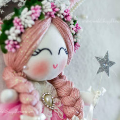 Frezya melek kız bebek kapı süsü 4