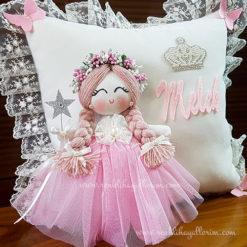 Frezya melek kız bebek takı ve süs yastığı 2
