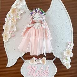 Gardenya melek kız bebek kapı süsü 1