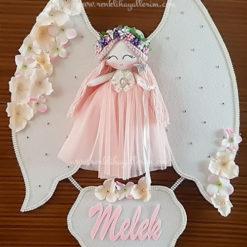Gardenya melek kız bebek kapı süsü 2