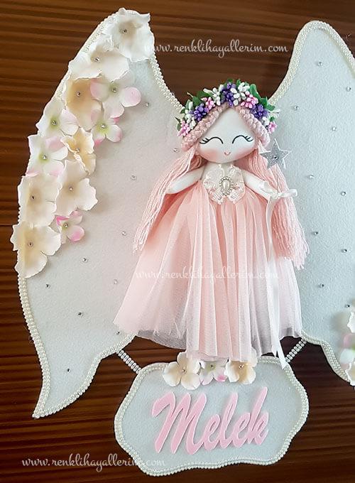 Gardenya melek kız bebek kapı süsü 3