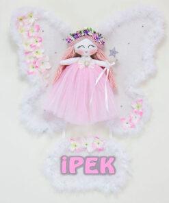 ipek isimli sardunya melek kız bebek kapı süsü
