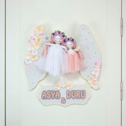 Aysa Duru isimli Kamelya Kız Kardeş ikili kapı süsü