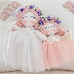 Asya duru isimli kardeş melek kız bebek yastığı