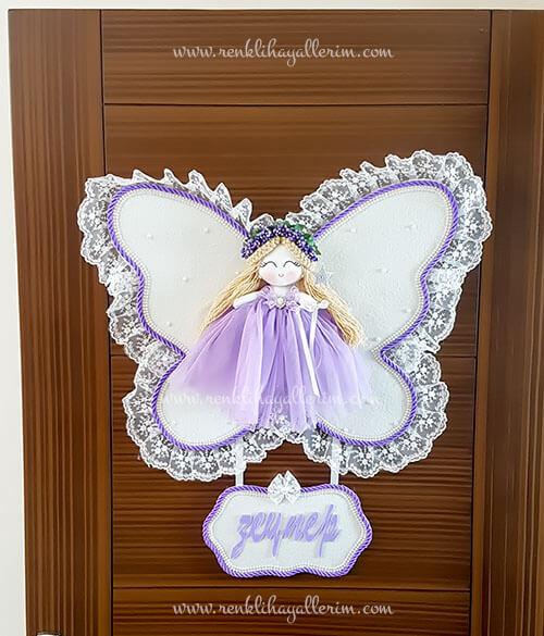 Leylak melek kız bebek kapı süsü 1