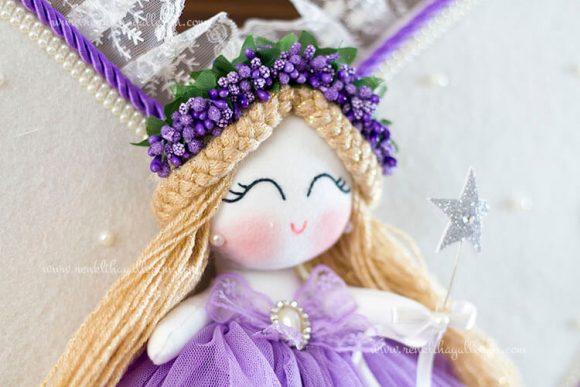 Leylak melek kız bebek kapı süsü 4