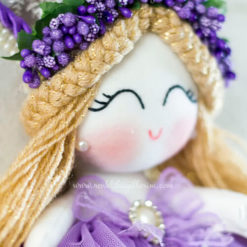 Leylak melek kız bebek kapı süsü 5