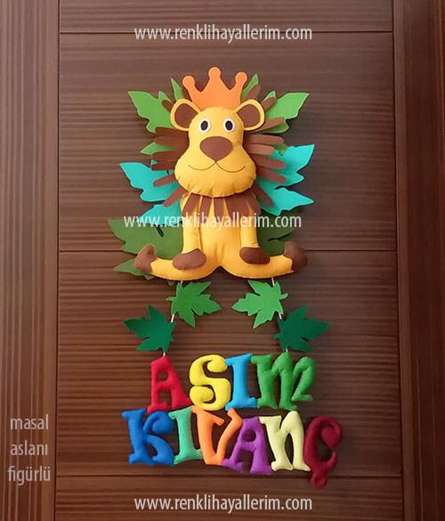 Aslan Kral bebek kapı süsü Asım Kıvanç isimli