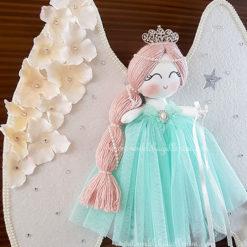 Papatya melek kız bebek kapı süsü 3