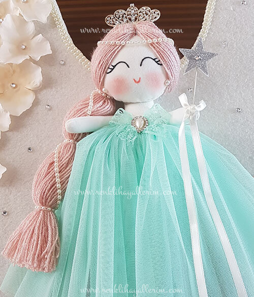 Papatya melek kız bebek kapı süsü 4
