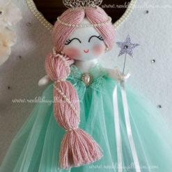 Papatya melek kız bebek kapı süsü 7
