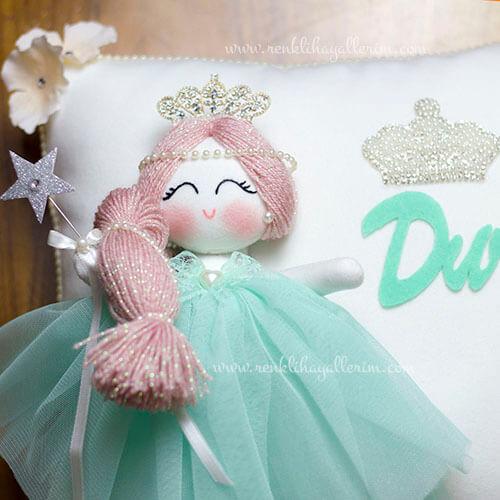 Papatya melek kız bebek takı ve süs yastığı 3