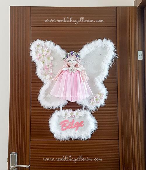 Sardunya melek kız bebek kapı süsü 1