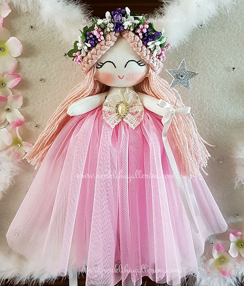 Sardunya melek kız bebek kapı süsü 3