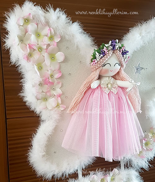 Sardunya melek kız bebek kapı süsü 4