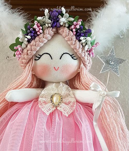 Sardunya melek kız bebek kapı süsü 5