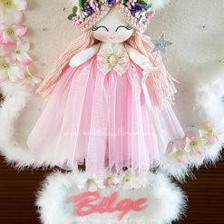 Sardunya melek kız bebek kapı süsü 6
