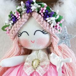 Sardunya melek kız bebek kapı süsü 7